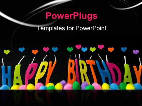birthday templates for powerpoint free download powerpoint template a happy birthday with a blackish