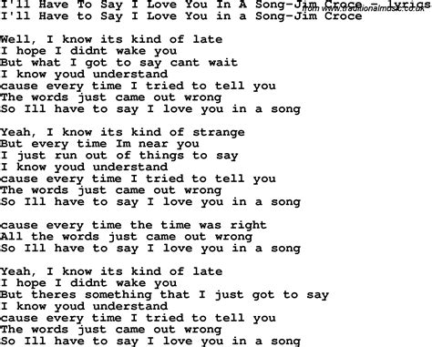i you song song lyrics for i ll to say i you in a song