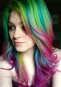 rainbow color hair manic panic hair dye pink blue green yellow purple hair