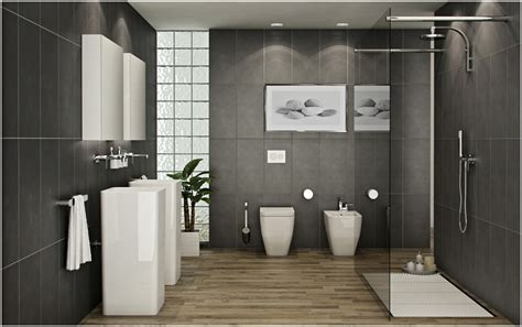 luxurious bathrooms with wooden floors