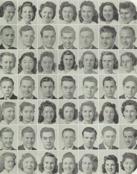 Hairstyles Class In San Jose 1942 high school hairstyles in the quot the bell quot yearbook of
