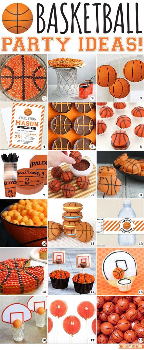 themes sport com slam dunk basketball party ideas chickabug