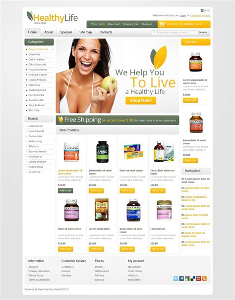 drug store opencart template