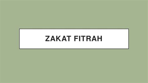 Janin Zakat Fitrah Zakat