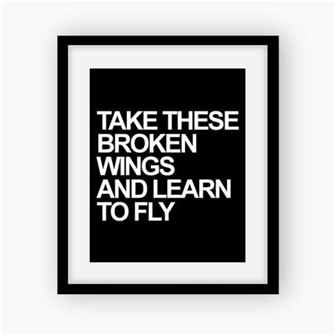 take these broken wings and learn to fly tattoo take these broken wings and learn to fly the beatles