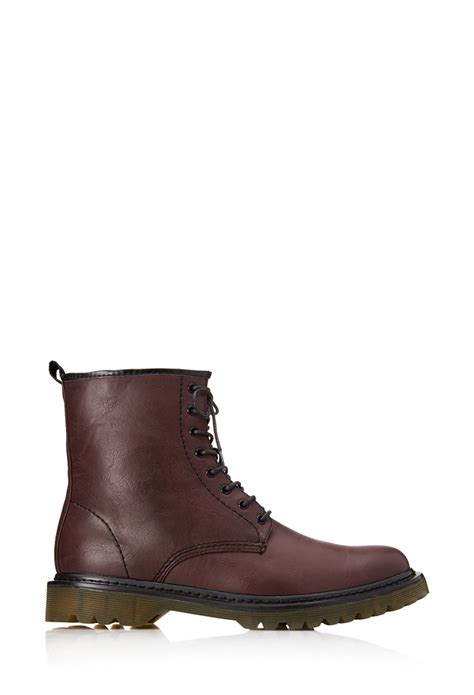mens combat boots forever 21 forever 21 classic combat boots in for lyst