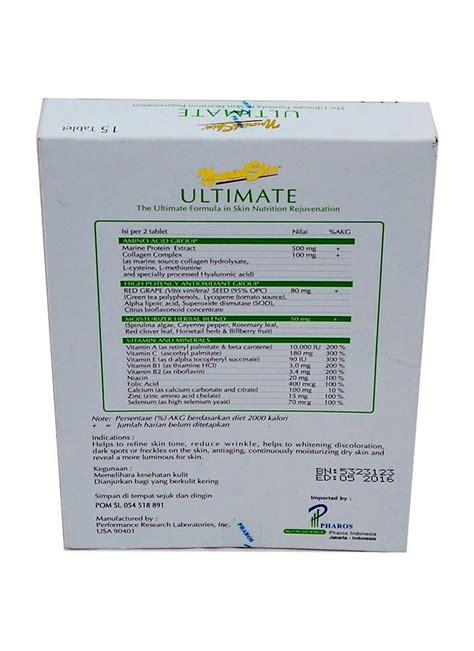 Nourish Skin Ultimate 30 Produk Kesehatan Wanita nourish skin food supplement ultimate 15 s box klikindomaret