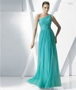 teal color bridesmaid dresses a line chiffon teal blue color one shoulder wedding