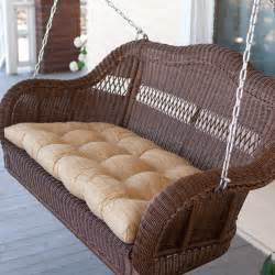 casco bay resin wicker porch swing walnut at hayneedle