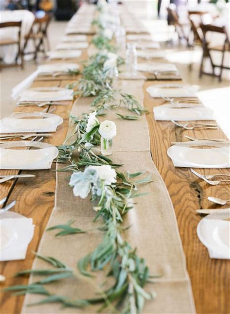 table runner ideas 22 rustic burlap wedding table runner ideas you will