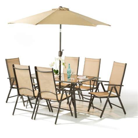 santorini garden patio furniture set 6 seater 100