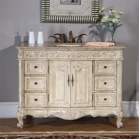 antique white bedroom vanity antique 48 inch single sink vanity with antique white finish and