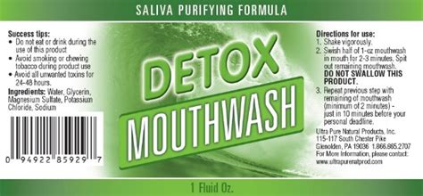 Detox Mouthwash Ultra Wash In Store Up by Cleansing Detox Mouthwash Pass Saliva Tests