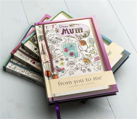 design journal gift dear mum journal of a lifetime by from you to me