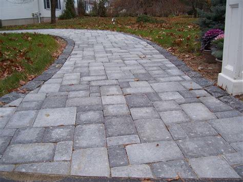 Gray Brick Pavers Walkways