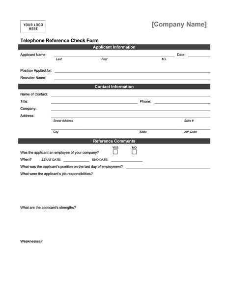 Reference Check Form Great Reference Checking Template Ideas Resume Ideas