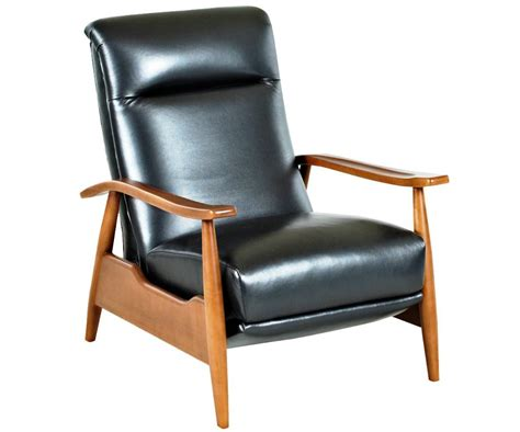 recliner chair small narrow recliner chairs gdfstudio lloyd black leather
