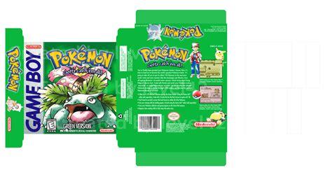 Updated New 300dpi Version Progress 80 Pokemon Green U S A Box Art 1998 Bulbagarden Gameboy Label Template