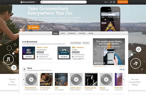 grooveshark mobile free 10 awesome free services digital trends