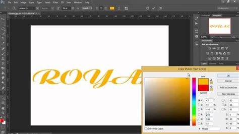 changing color in photoshop how to change text color in photoshop cs6 tutorial 2016
