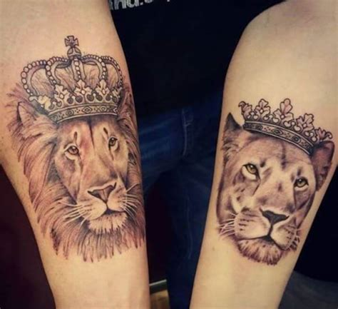 queen lion tattoo 165 top king and queen tattoos for couples 2018 page