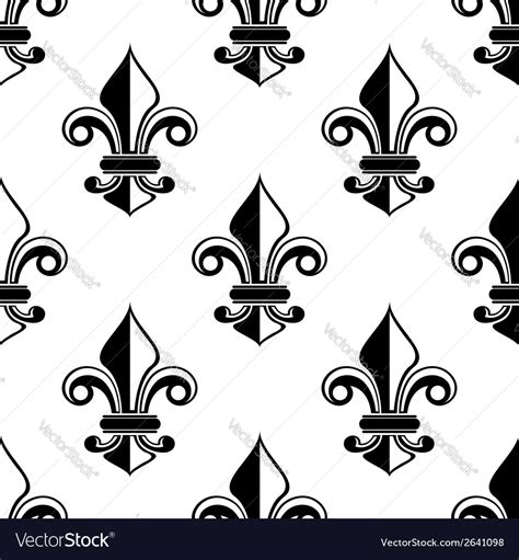 demand pattern in french classical french fleur de lis pattern royalty free vector