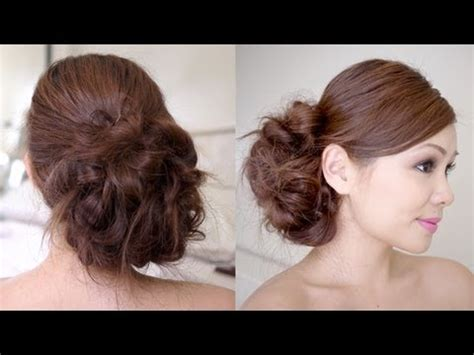 Wedding Hair Side Bun Tutorial by Bridal Side Bun Hair Tutorial