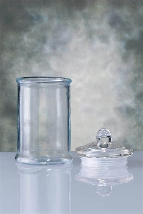glass canister clear 6in