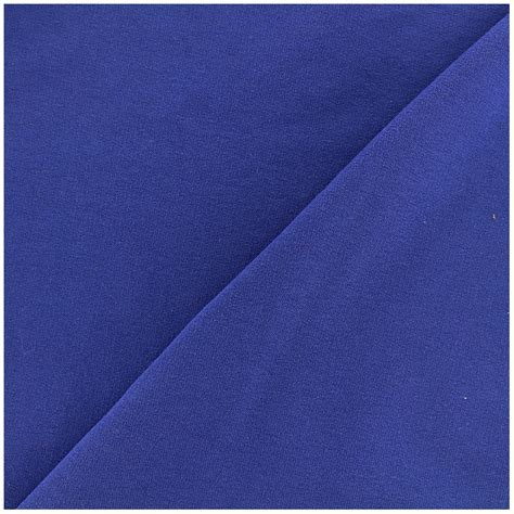 light blue jersey fabric light jogging jersey fabric royal blue x 10cm ma