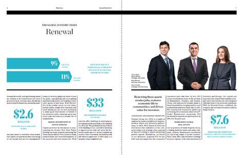 business magazine layout design blackstone annual report fidelis design associates
