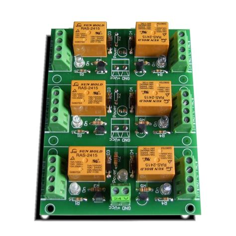 24 channel light board relay card 24v 6 channels for raspberry pi arduino pic
