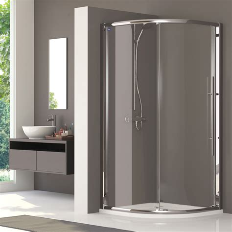 Showerlux Shower Doors Showerlux Linea Touch Quadrant Single Door 900 X 900mm