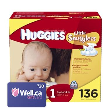 Huggies Gift Card - buy huggies little snugglers hi count junior well ca 20 gift card at well ca free
