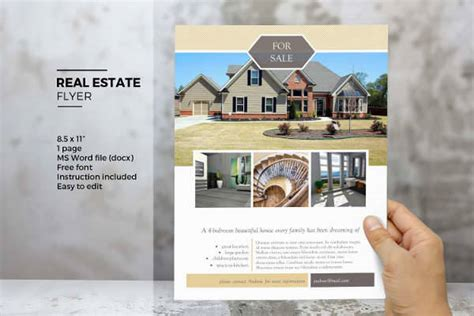 real estate flyer template word 24 real estate flyer designs design trends premium