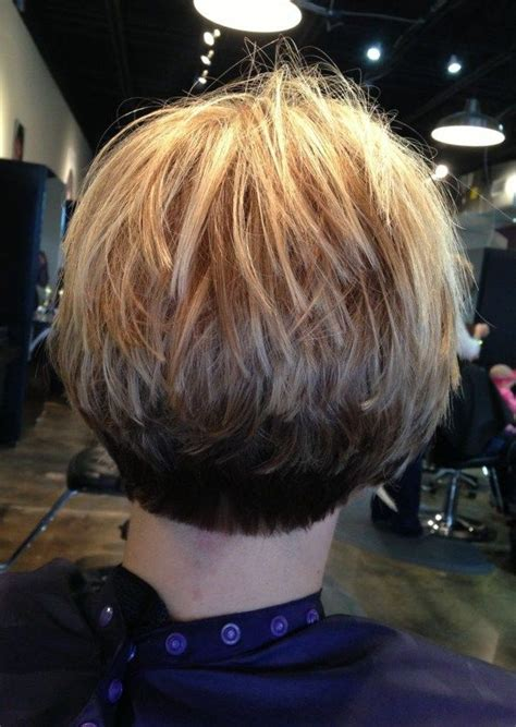 Short Stacked Wedge For Fine Thinning Hair | stacked bob fine hair inverted stacked bob hair cut