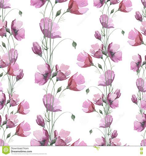 flower pattern names wildflower poppy flower pattern in a watercolor style
