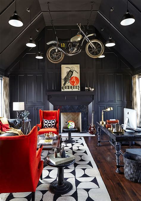 dark home decor 30 black and white home offices that leave you spellbound