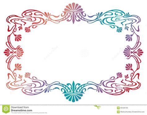 cornici liberty cornice riempita pendenza di stile liberty quadro