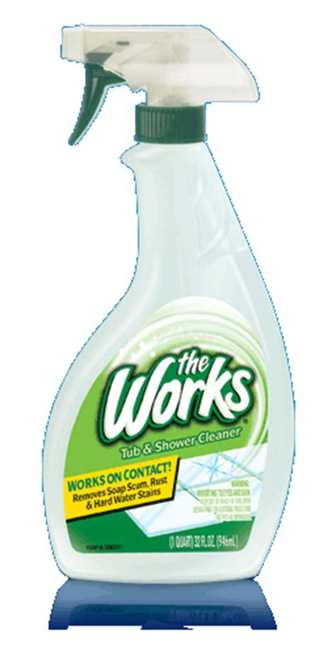 works bathroom cleaner the works 174 tub shower cleaner