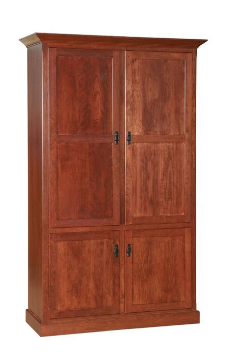 Solid Wood Bookcase With Doors Amish Bookcase With Doors Choose Shaker Mission Or Country Style