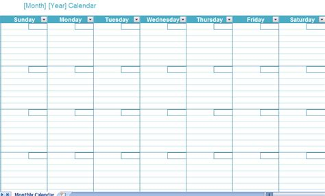 monthly calendar template excel search results for blank weekly printable templates