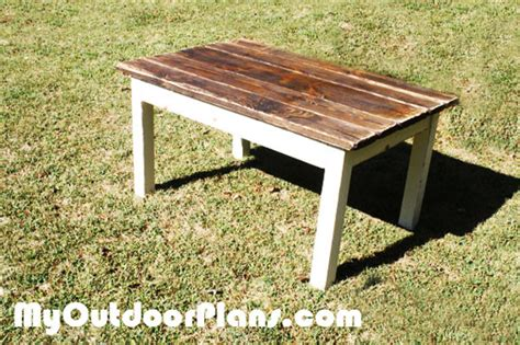 diy harvest table myoutdoorplans free woodworking