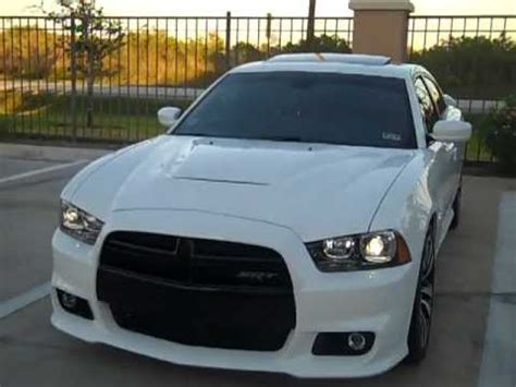 dodge charger srt white red leather youtube