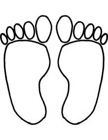 foot coloring page footprints coloring pages printable color on pages