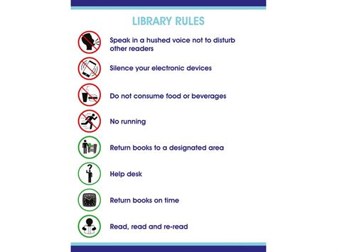 Glass Bookcases Self Adhesive Vinyl Library Rules Sign Biblio Rpl Lt 233 E