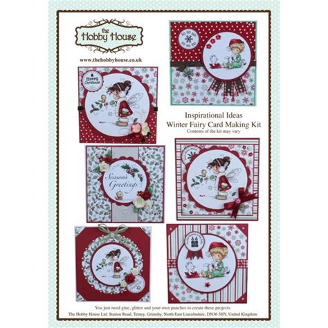 card kits uk the hobby house wee winter cardmaking kit uk