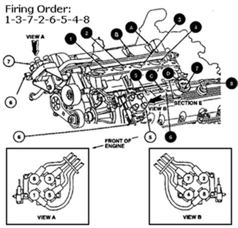 solved firing order diagram for 1995 mercury 4 6 liter