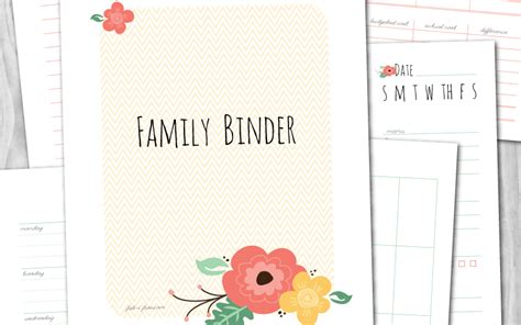 free printable mix match home management binder fab n