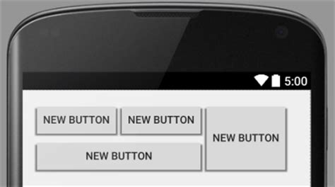 grid layout buttons android using the android gridlayout manager in android studio