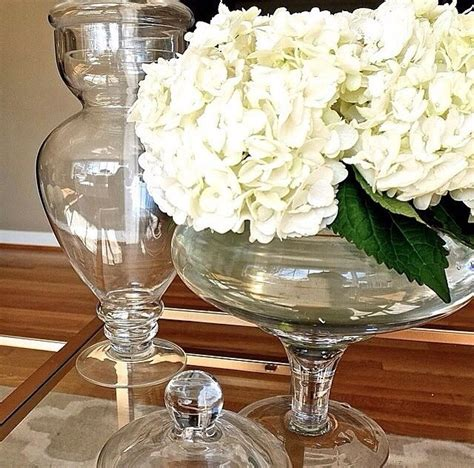 apothecary jars as vases home decor pinterest